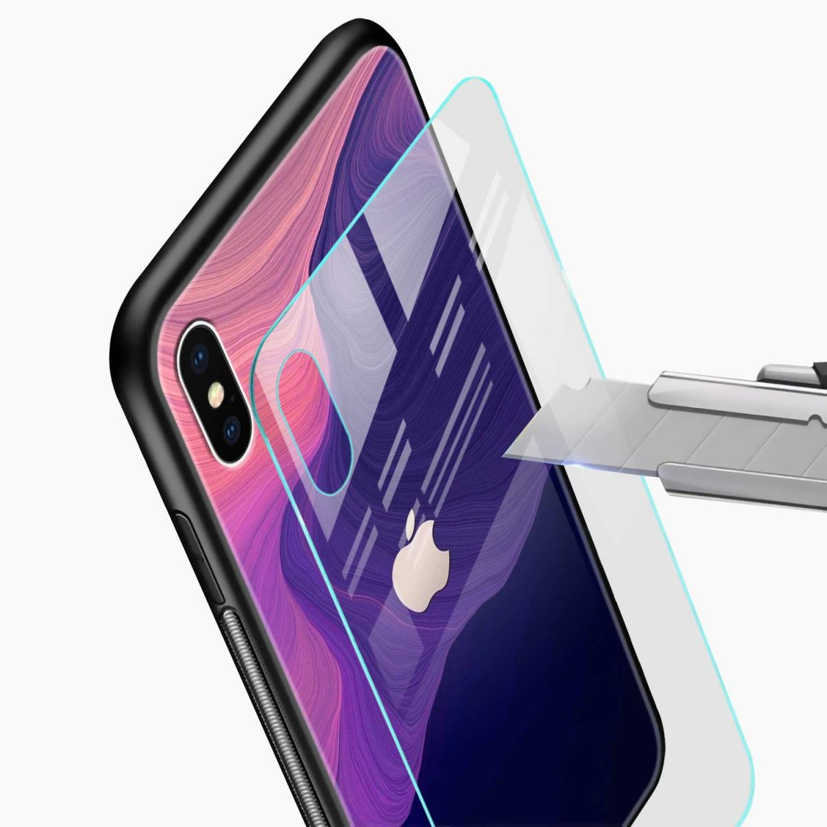 simply classic glass view apple iphone x xs max back cover