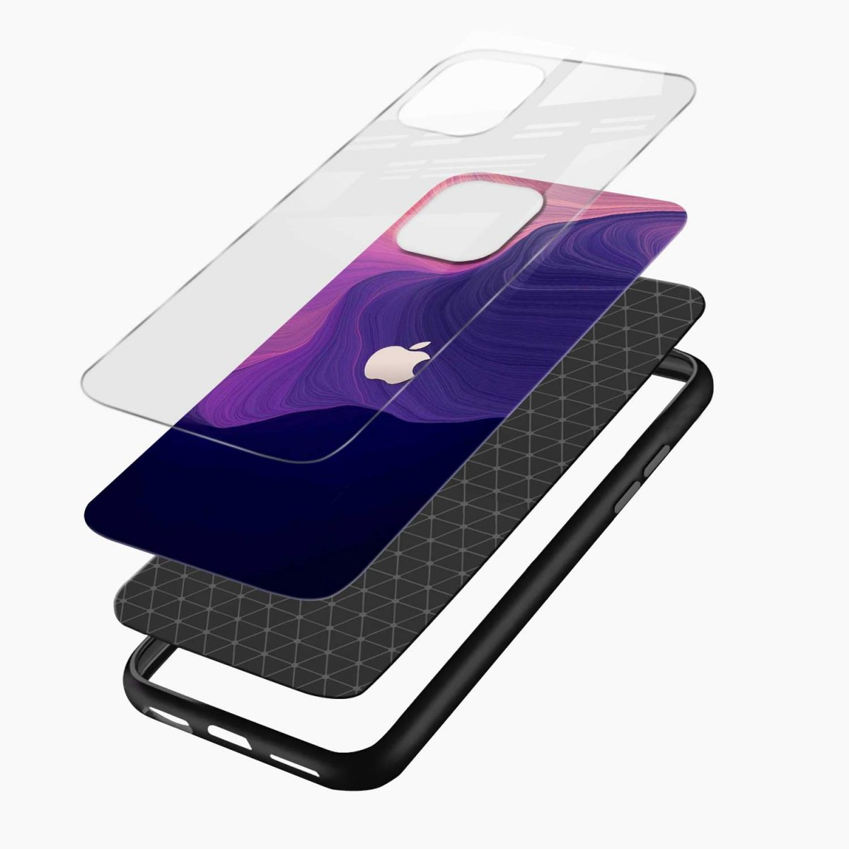 simply classic iphone pro back cover layers view