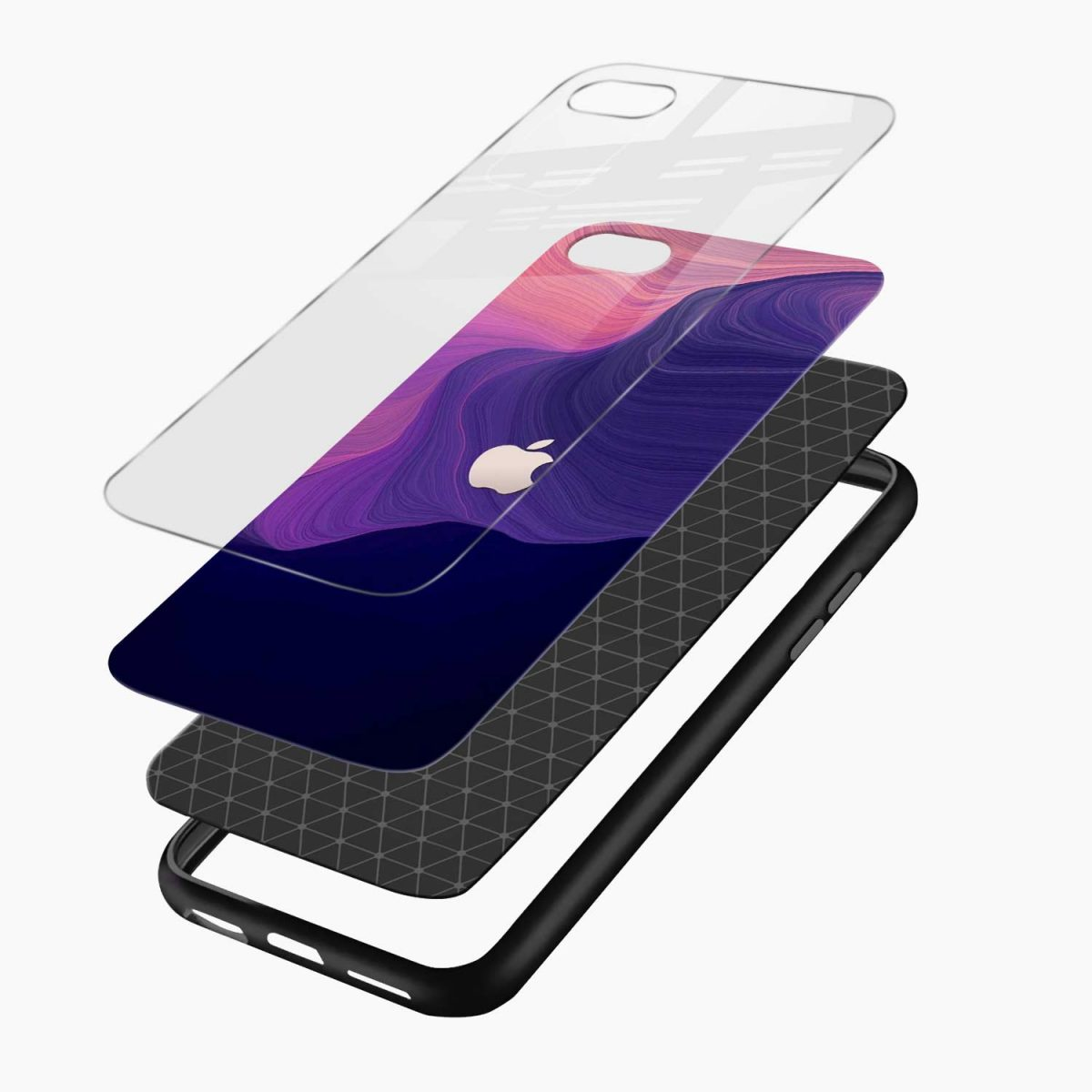 simply classic layers view apple iphone 6 7 8 se back cover