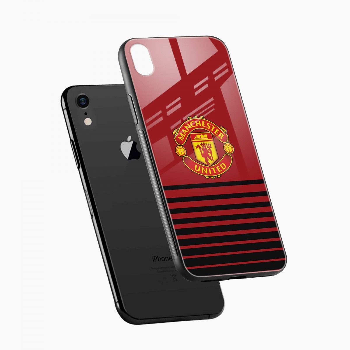 manchester united apple iphone xr back cover diagonal view