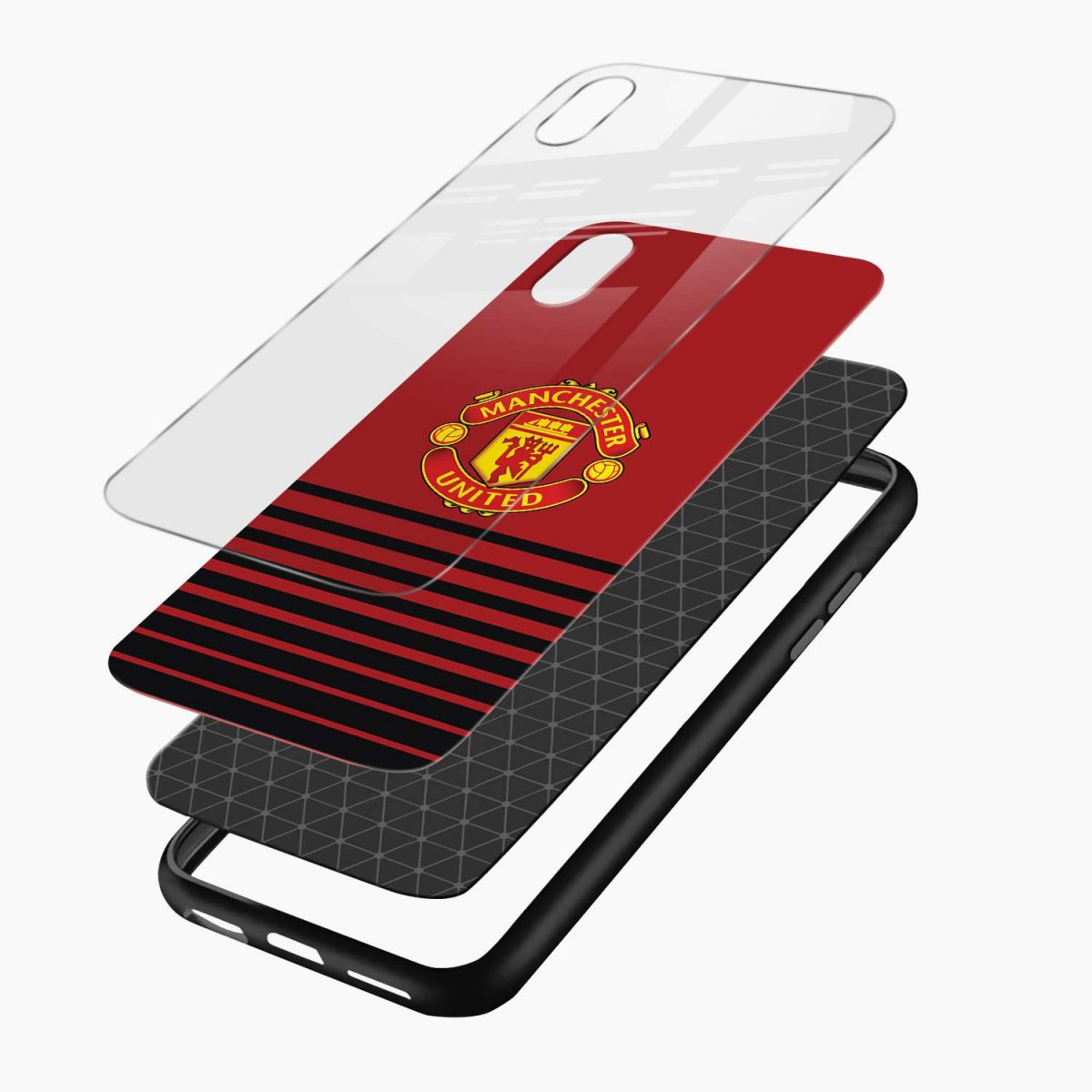 manchester united apple iphone xr back cover layers view