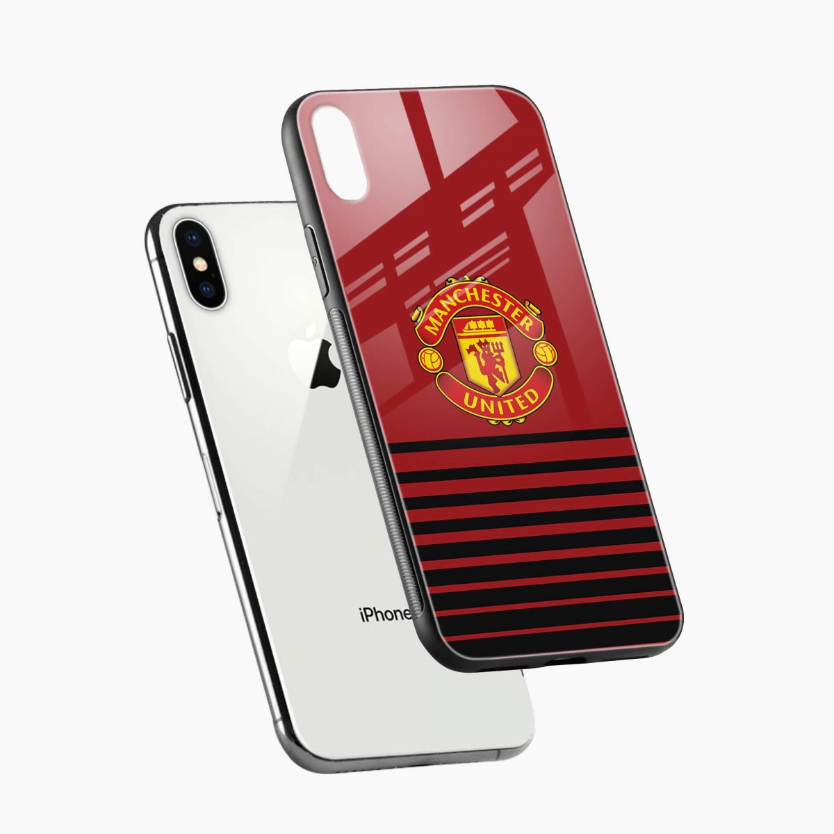 manchester united diagonal view apple iphone x xs max back cover