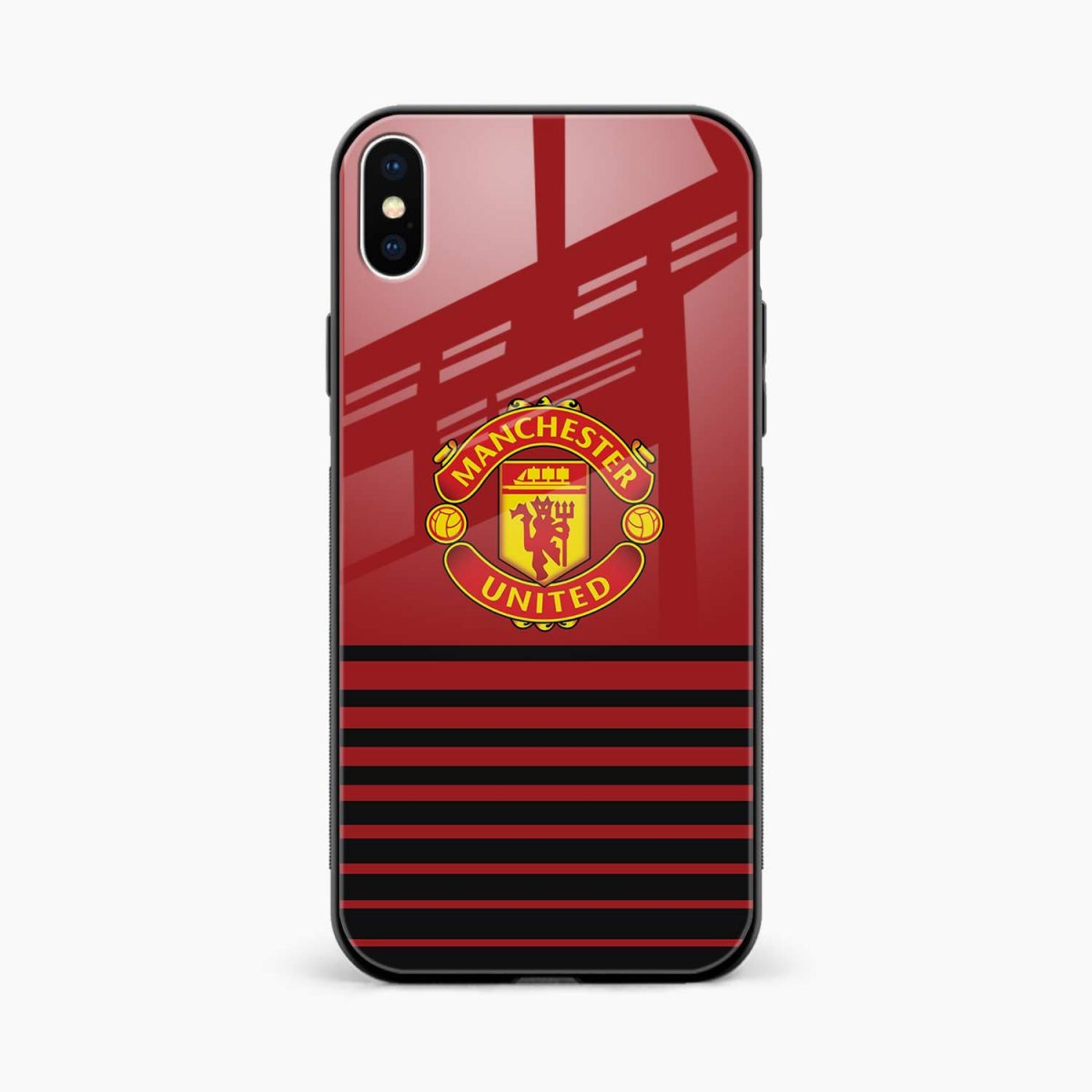 manchester united front view apple iphone x xs max back cover