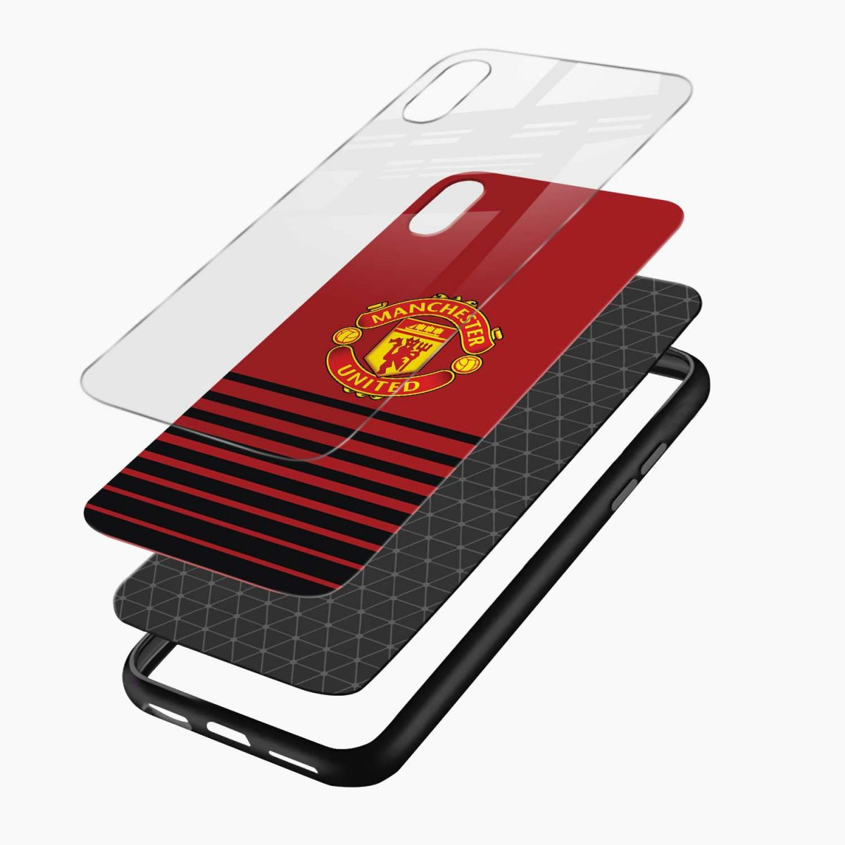 manchester united layers view apple iphone x xs max back cover