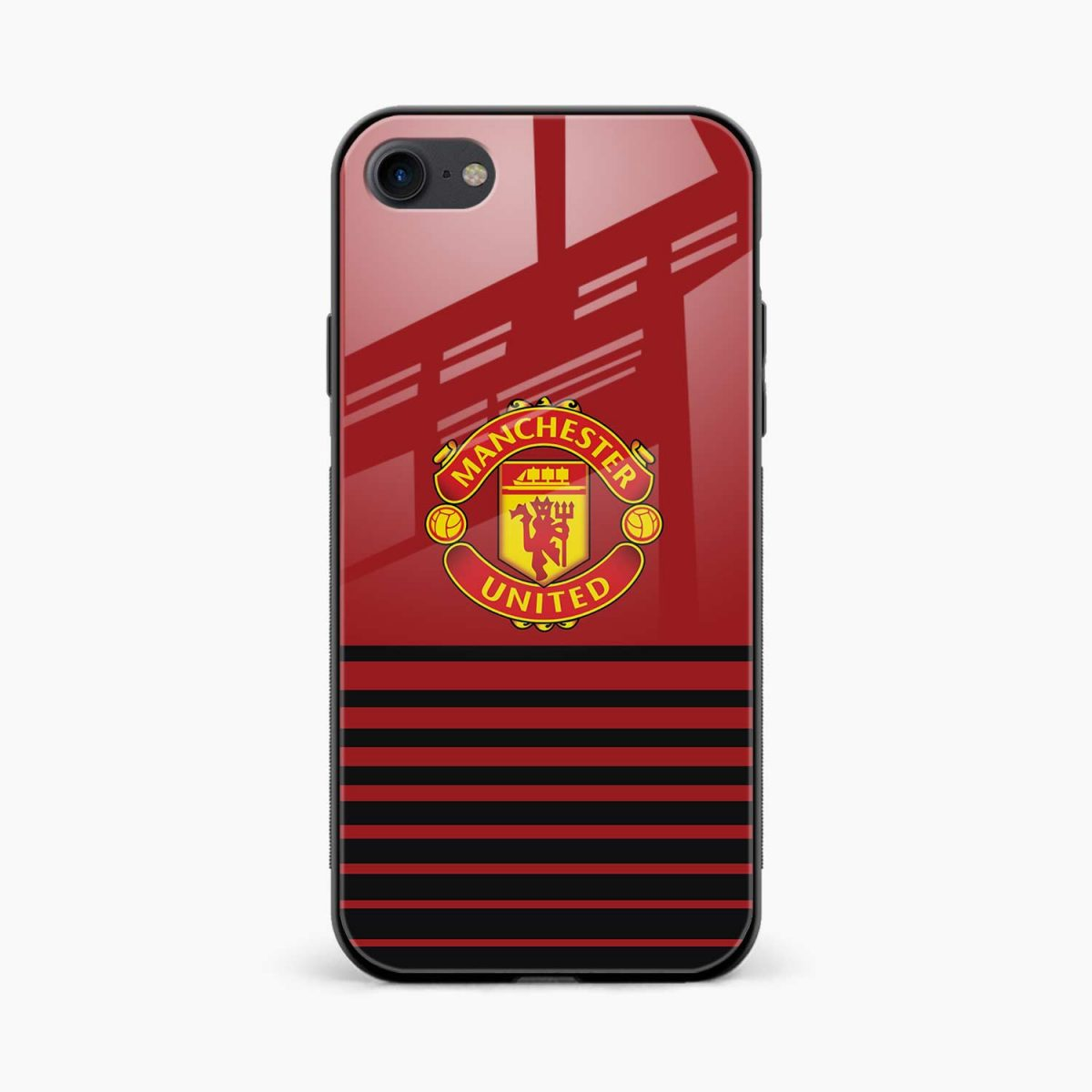 manchester united front view apple iphone 6 7 8 se back cover