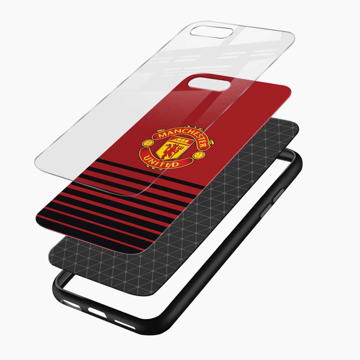 manchester united layers view apple iphone 7 8 plus back cover