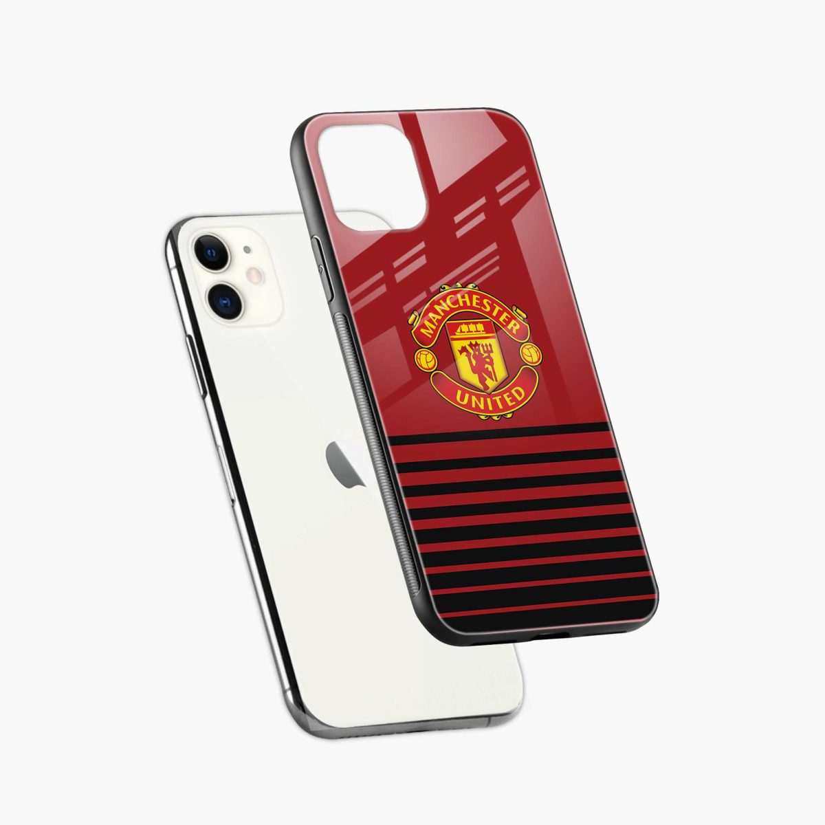 manchester united iphone back cover diagonal view