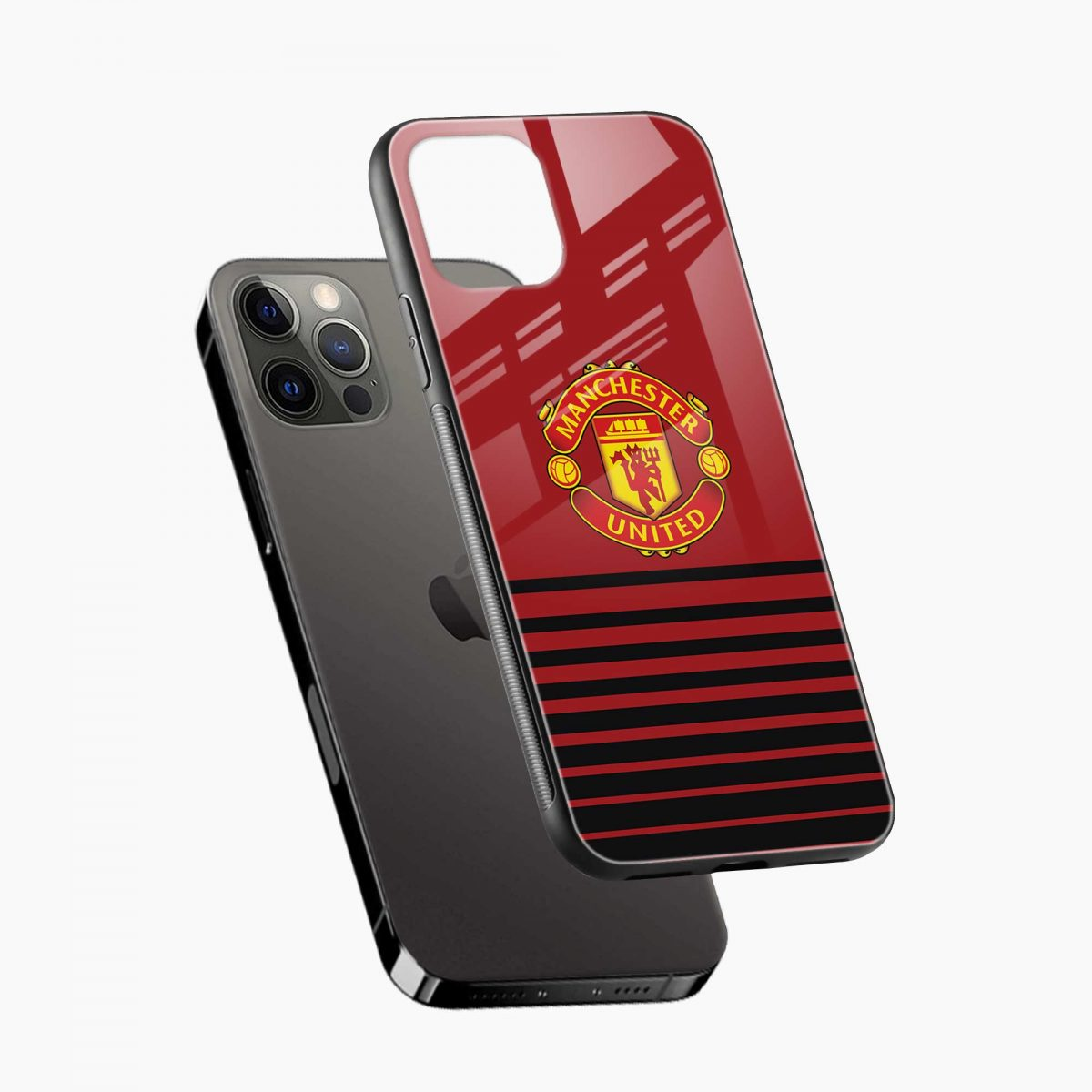 manchester united iphone pro back cover diagonal view
