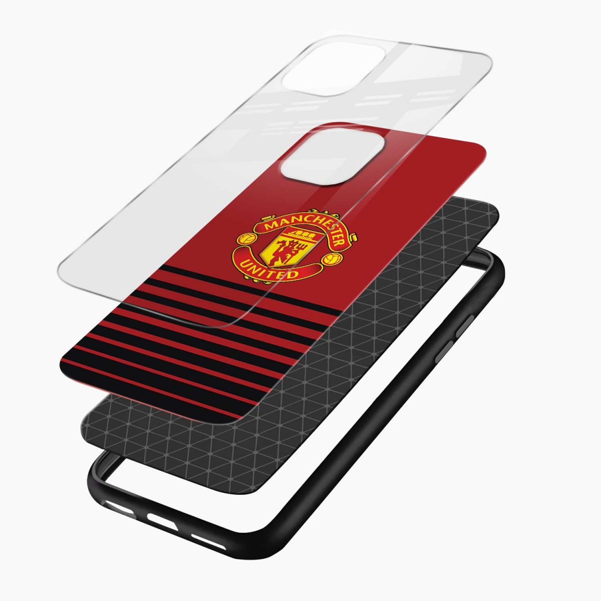 manchester united iphone pro back cover layers view
