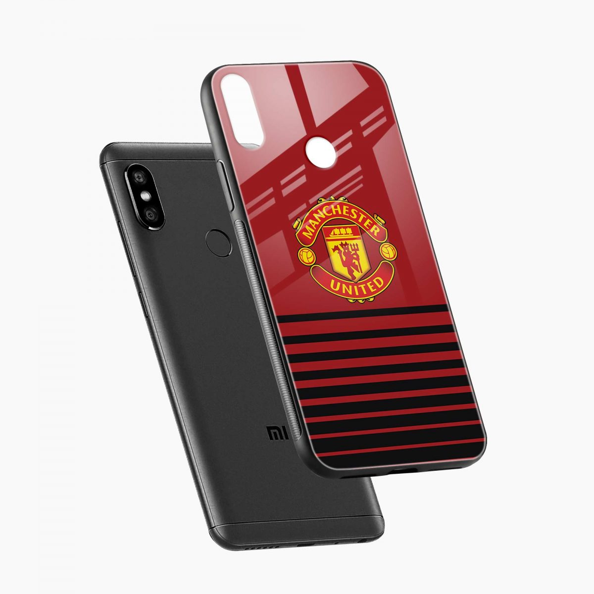 manchester united redmi note 5 pro back cover diagonal view