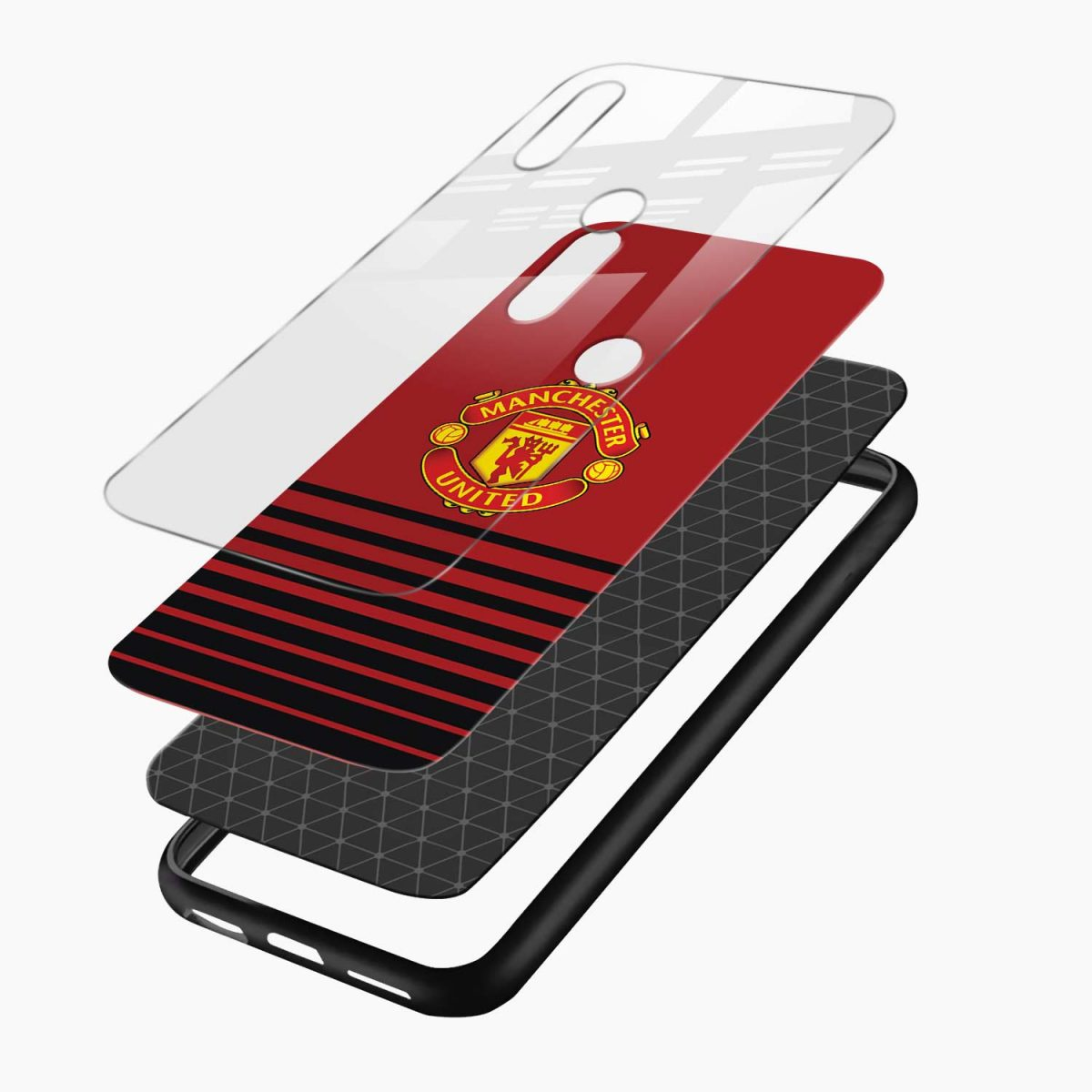 manchester united redmi note 5 pro back cover layers view