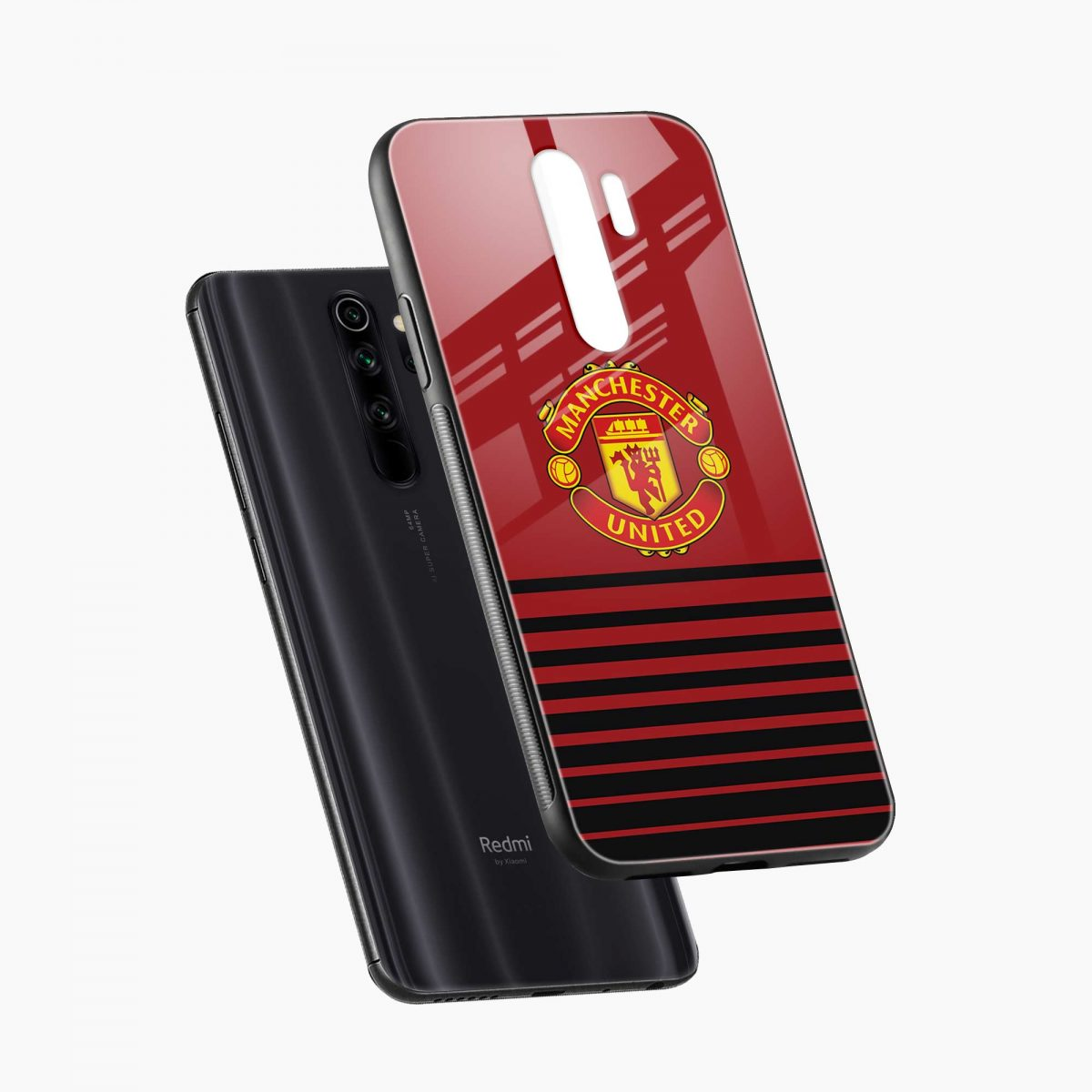 manchester united diagonal view redmi note 8 pro back cover