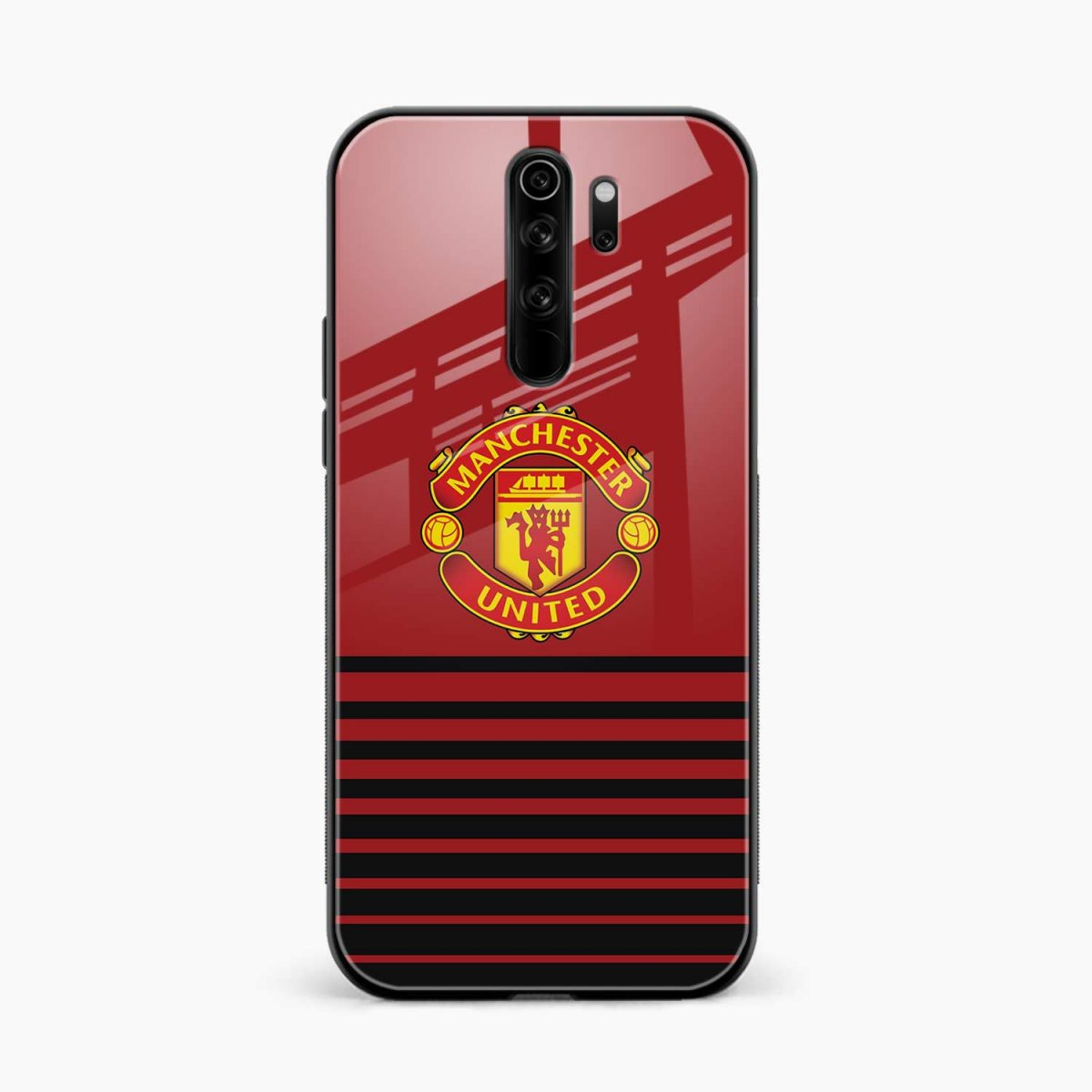 manchester united redmi note 8 pro back cover front view