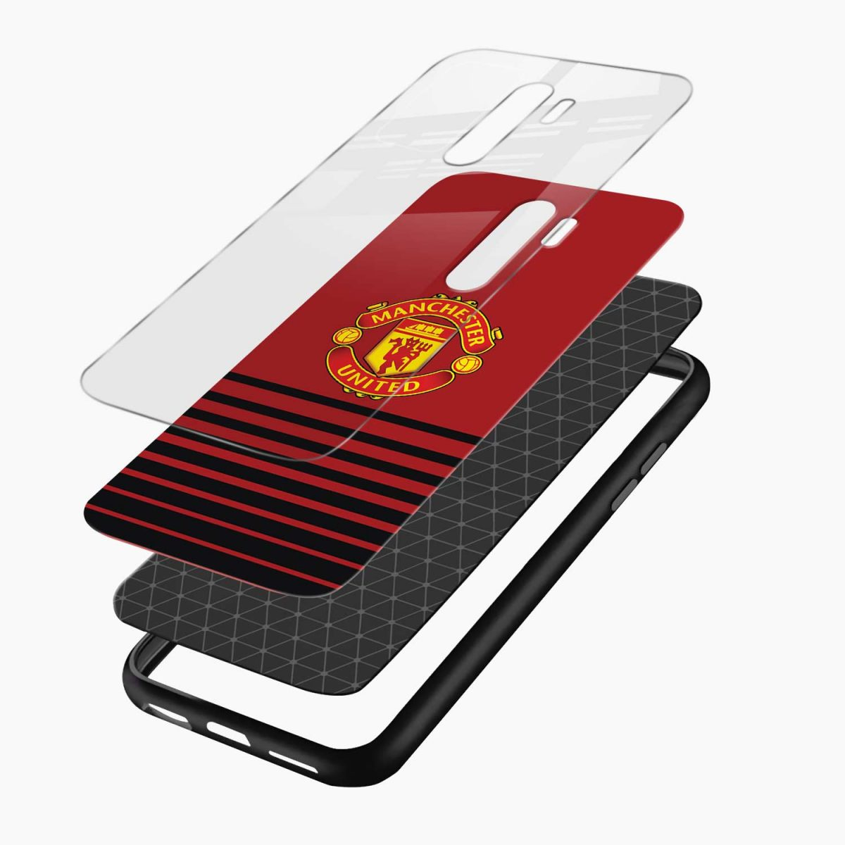 manchester united redmi note 8 pro back cover layers view