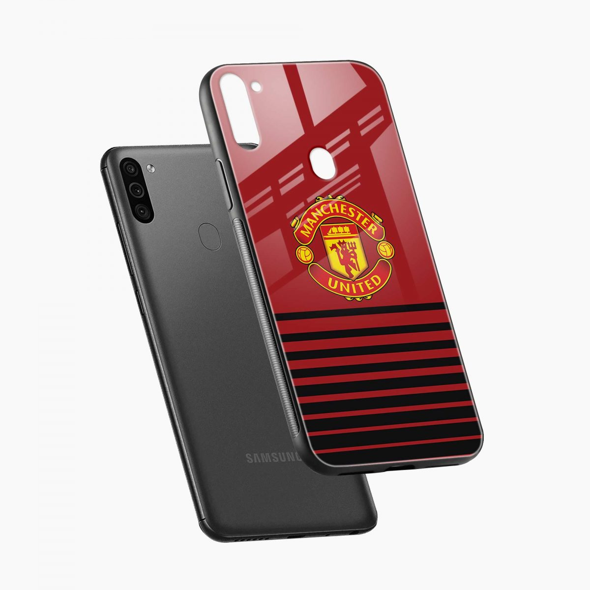 manchester united diagonal view samsung galaxy m11 back cover