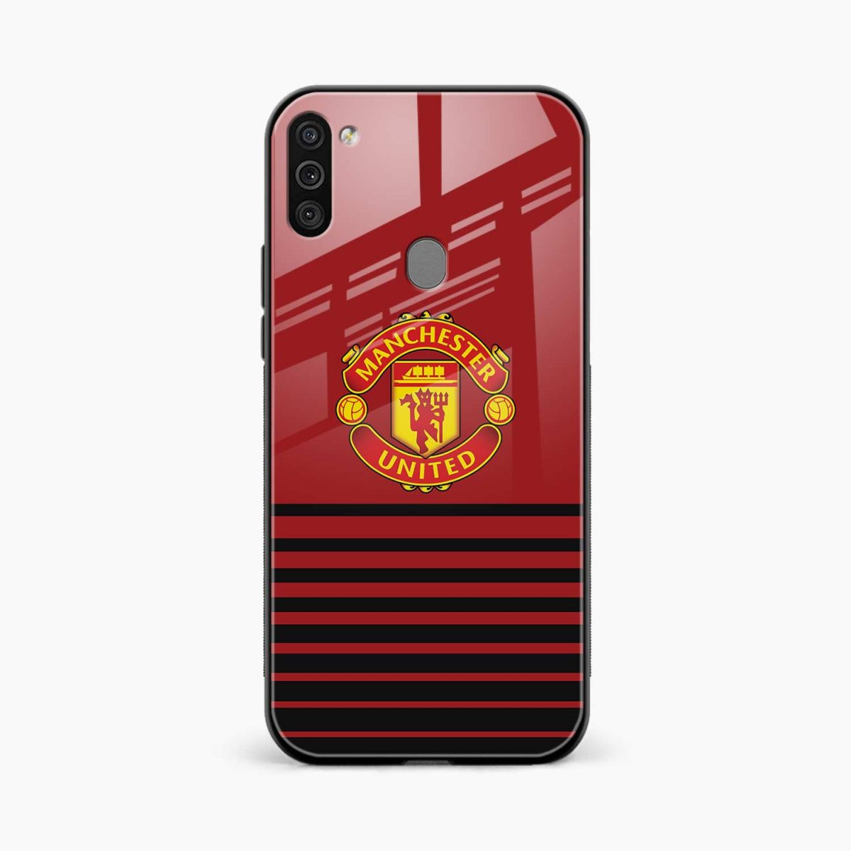 manchester united front view samsung galaxy m11 back cover