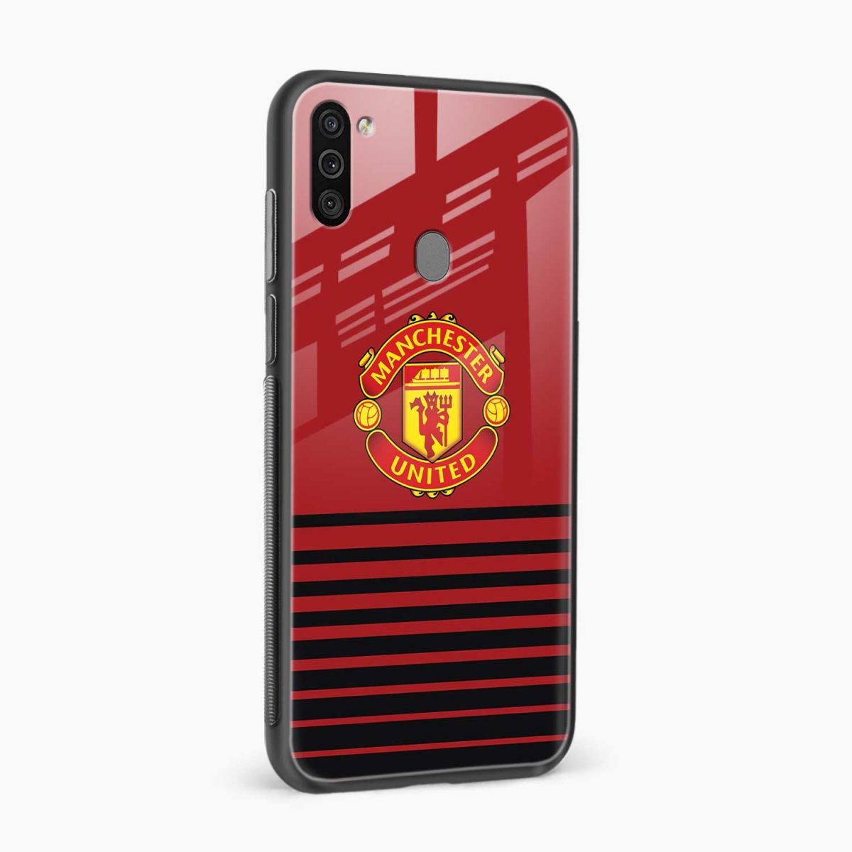 manchester united side view samsung galaxy m11 back cover