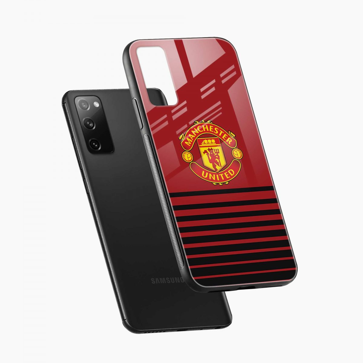 manchester united diagonal view samsung galaxy s20 fe back cover