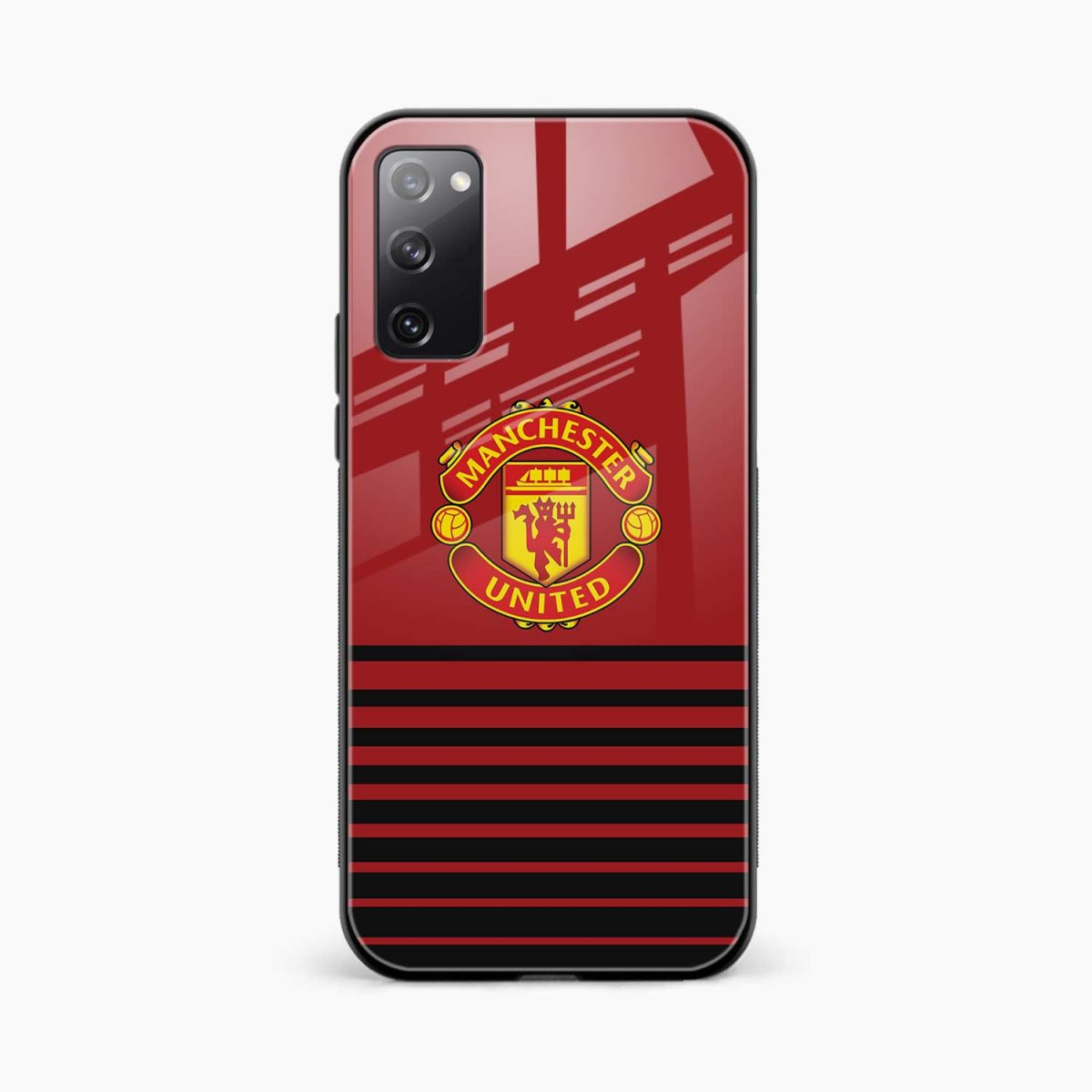 manchester united front view samsung galaxy s20 fe back cover