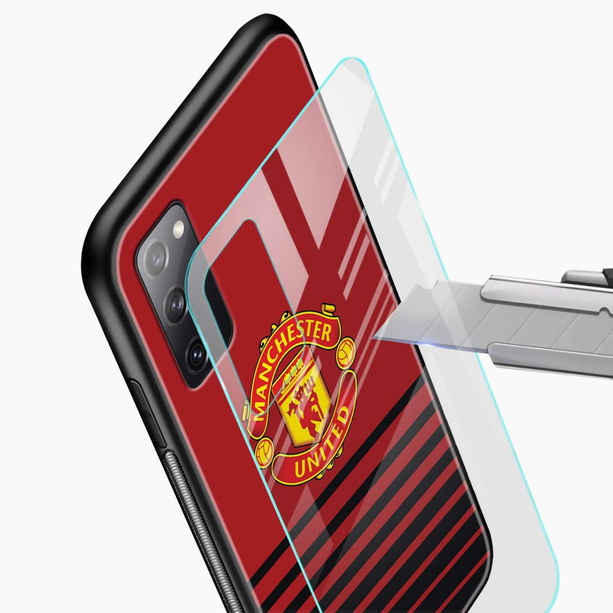 manchester united glass view samsung galaxy s20 fe back cover