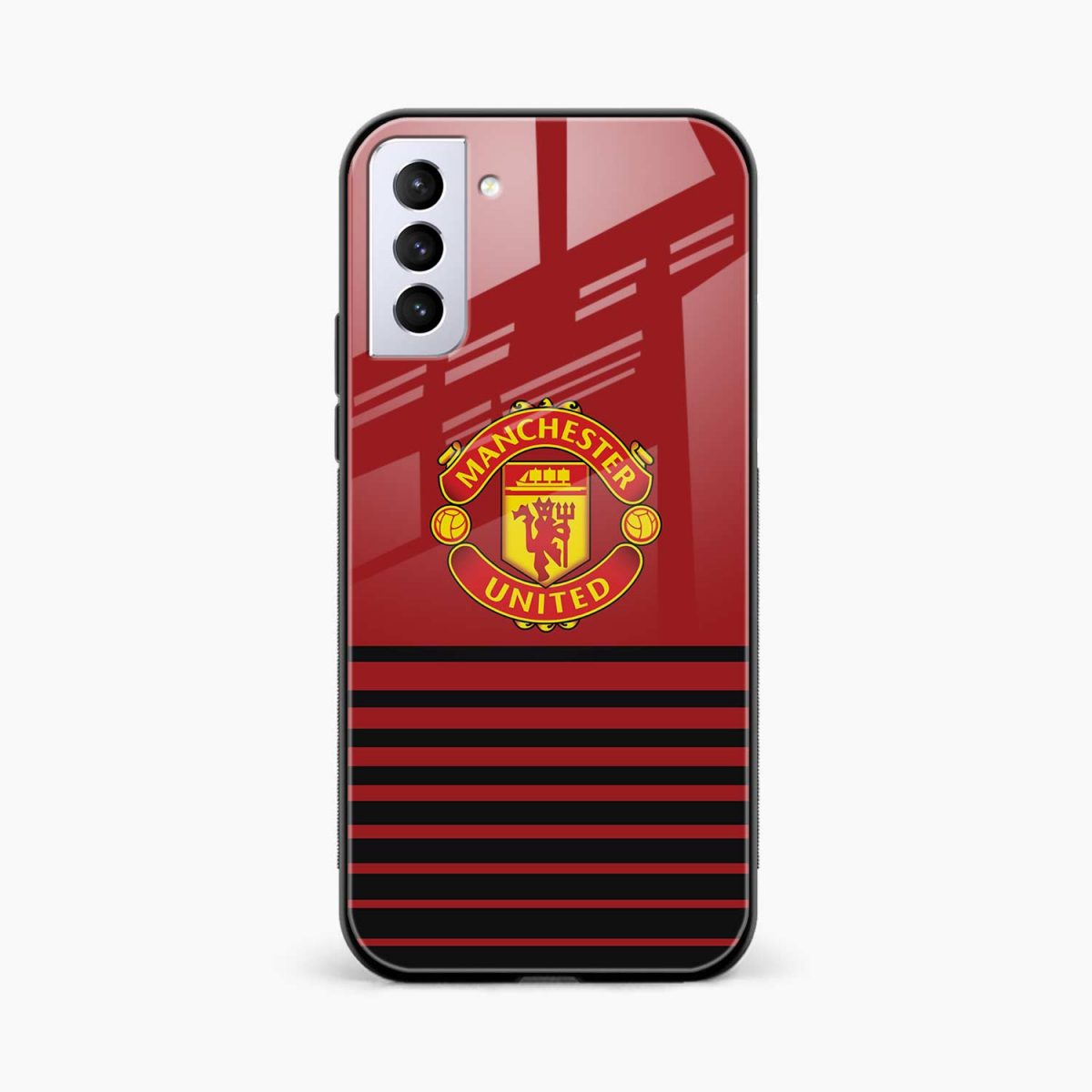 manchester united front view samsung s21 plug back cover