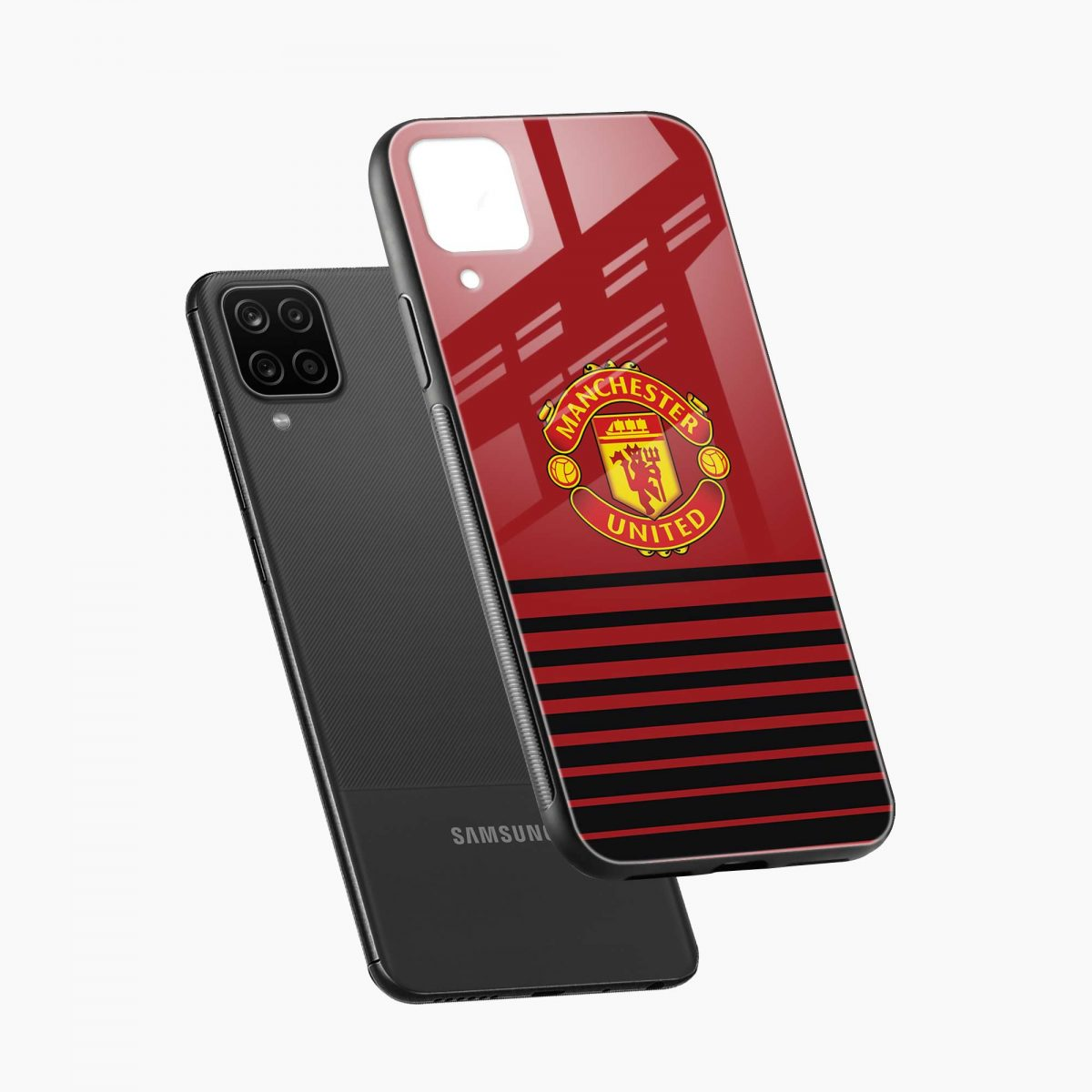 manchester united diagonal view samsung galaxy a12 back cover