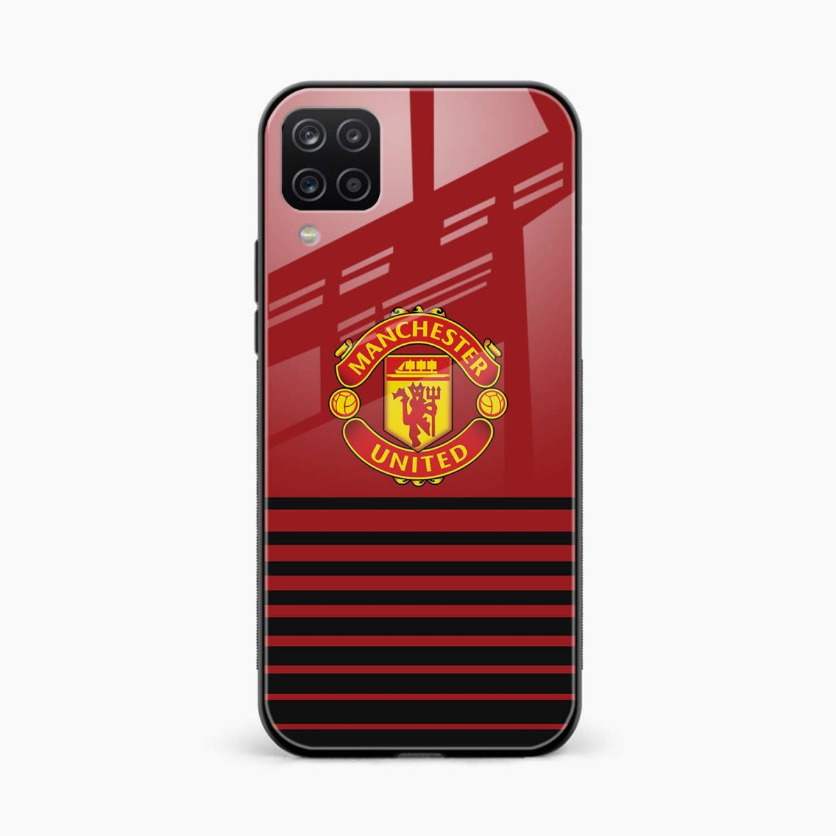 manchester united front view samsung galaxy a12 back cover