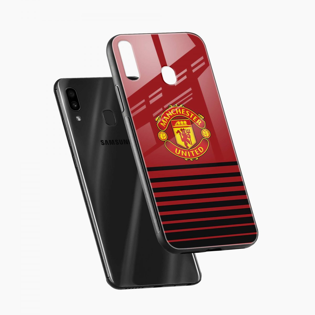 manchester united diagonal view samsung galaxy a30 back cover