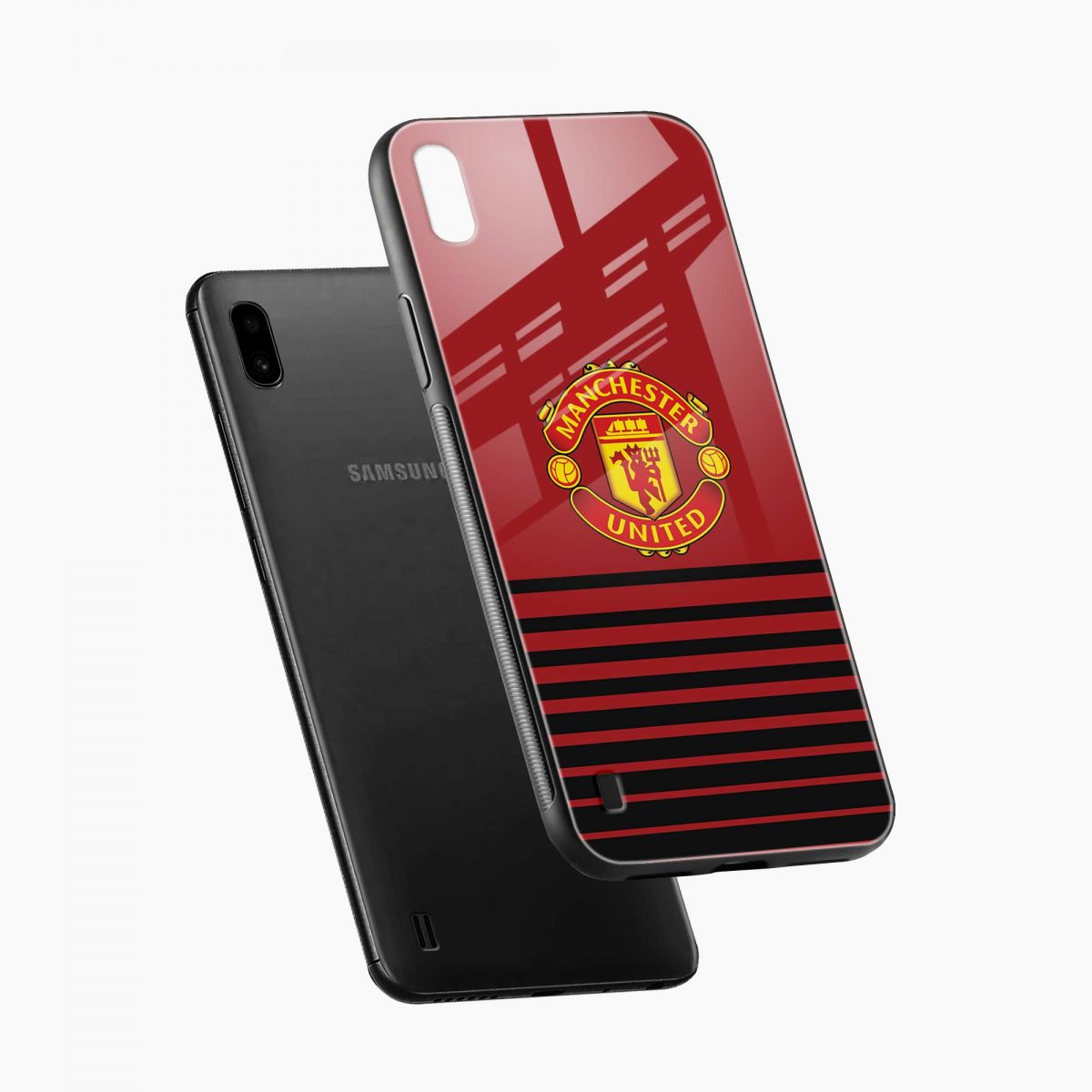 manchester united diagonal view samsung galaxy a10 back cover
