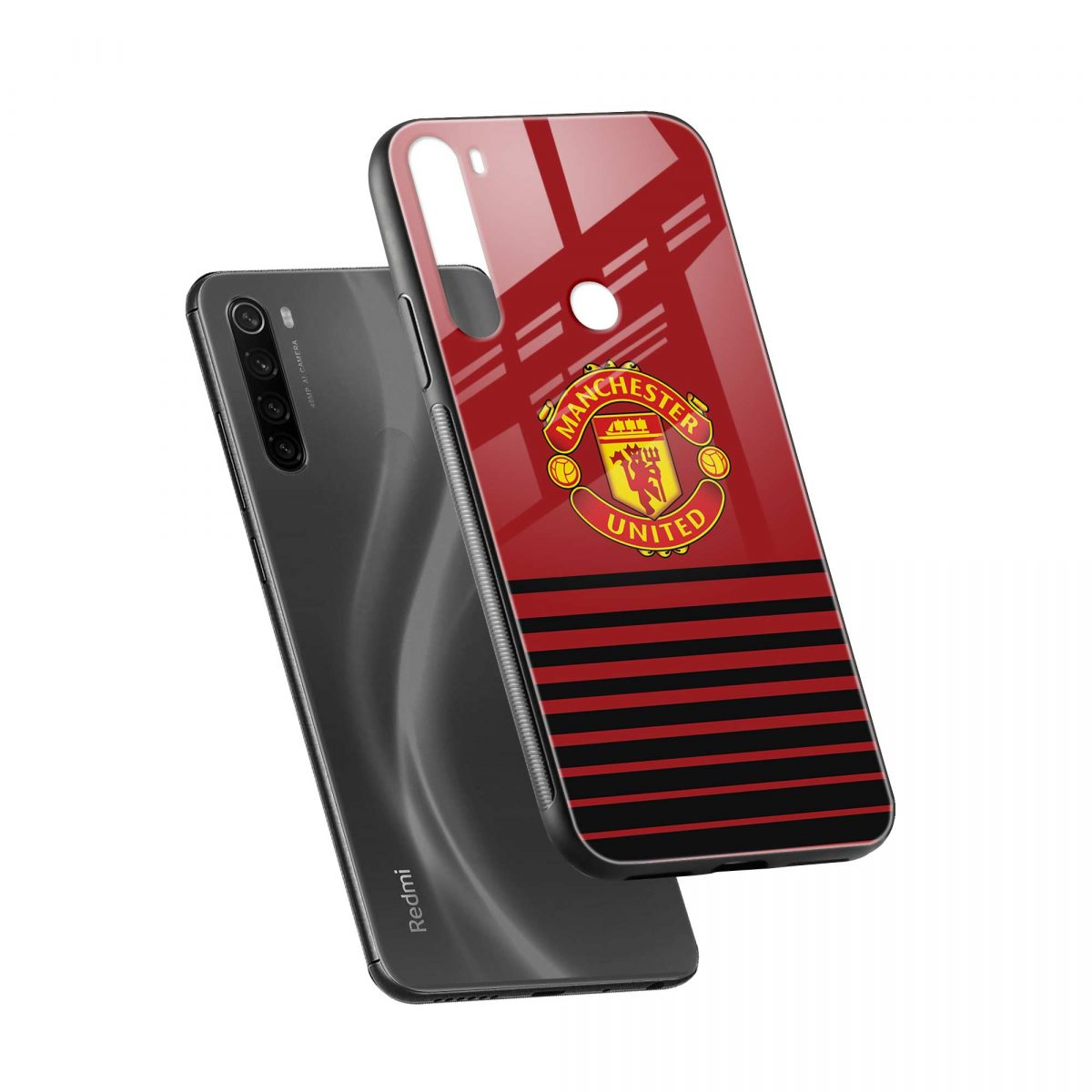 manchester united diagonal view redmi note 8 back cover