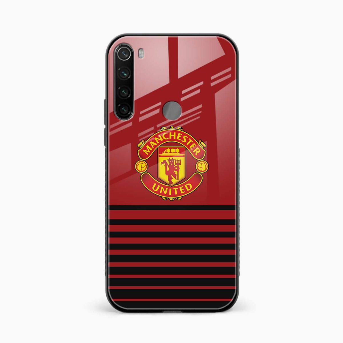 manchester united front view redmi note 8 back cover
