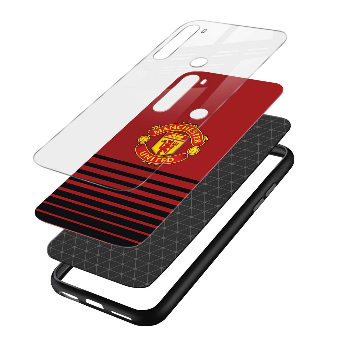 manchester united layers view redmi note 8 back cover