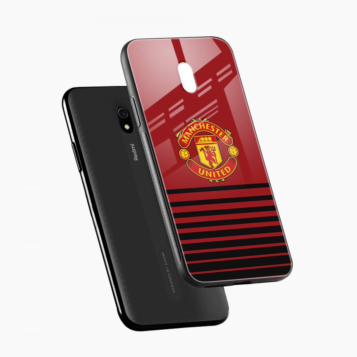 manchester united diagonal view redmi 8a back cover