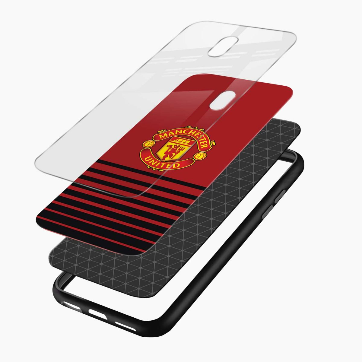 manchester united layers view redmi 8a back cover