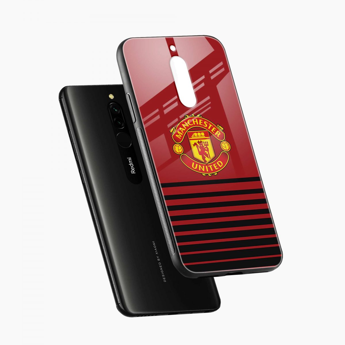 manchester united diagonal view redmi 8 back cover