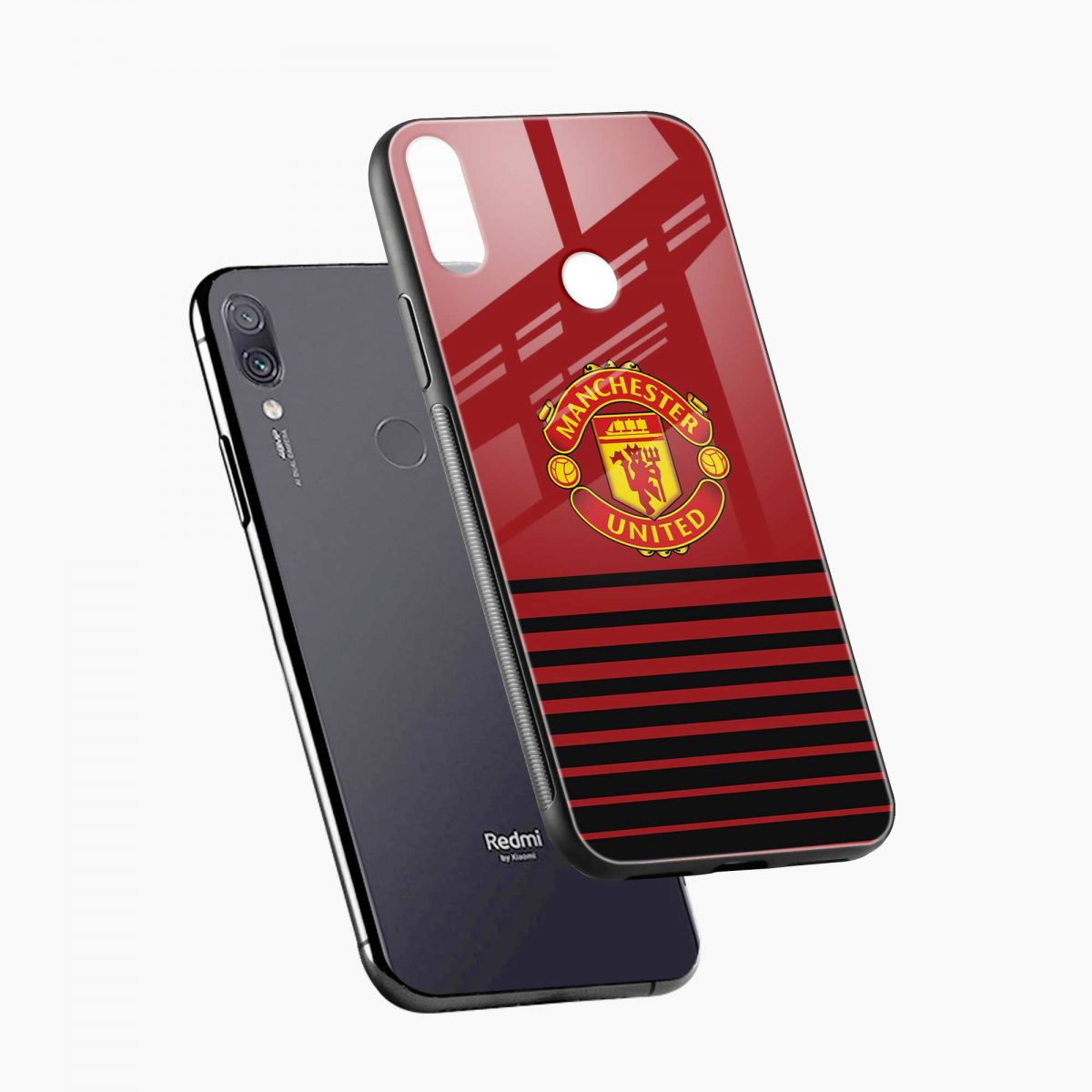 manchester united diagonal view redmi note7 back cover