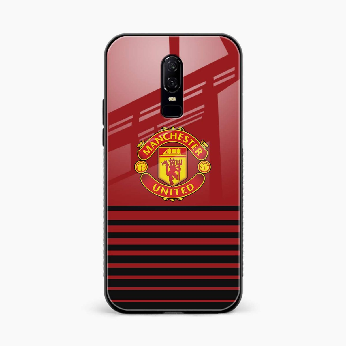 manchester united front view oneplus 6 back cover