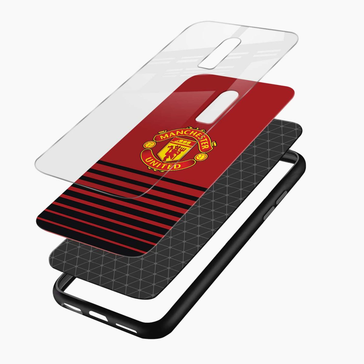 manchester united layers view oneplus 6 back cover