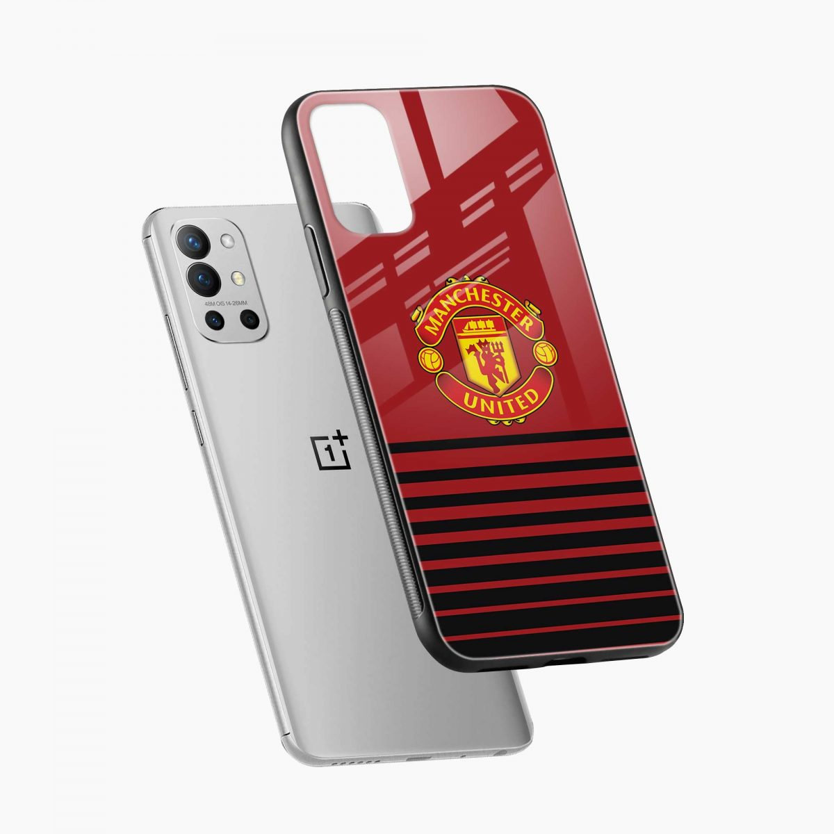 manchester united diagonal view oneplus 9r back cover