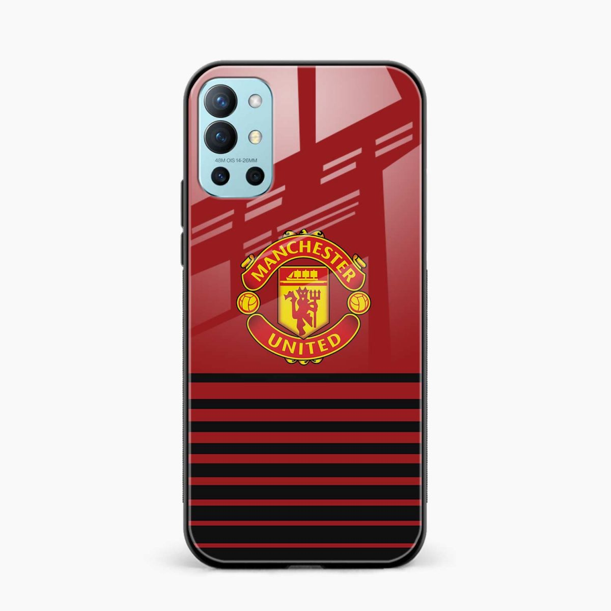 manchester united front view oneplus 9r back cover