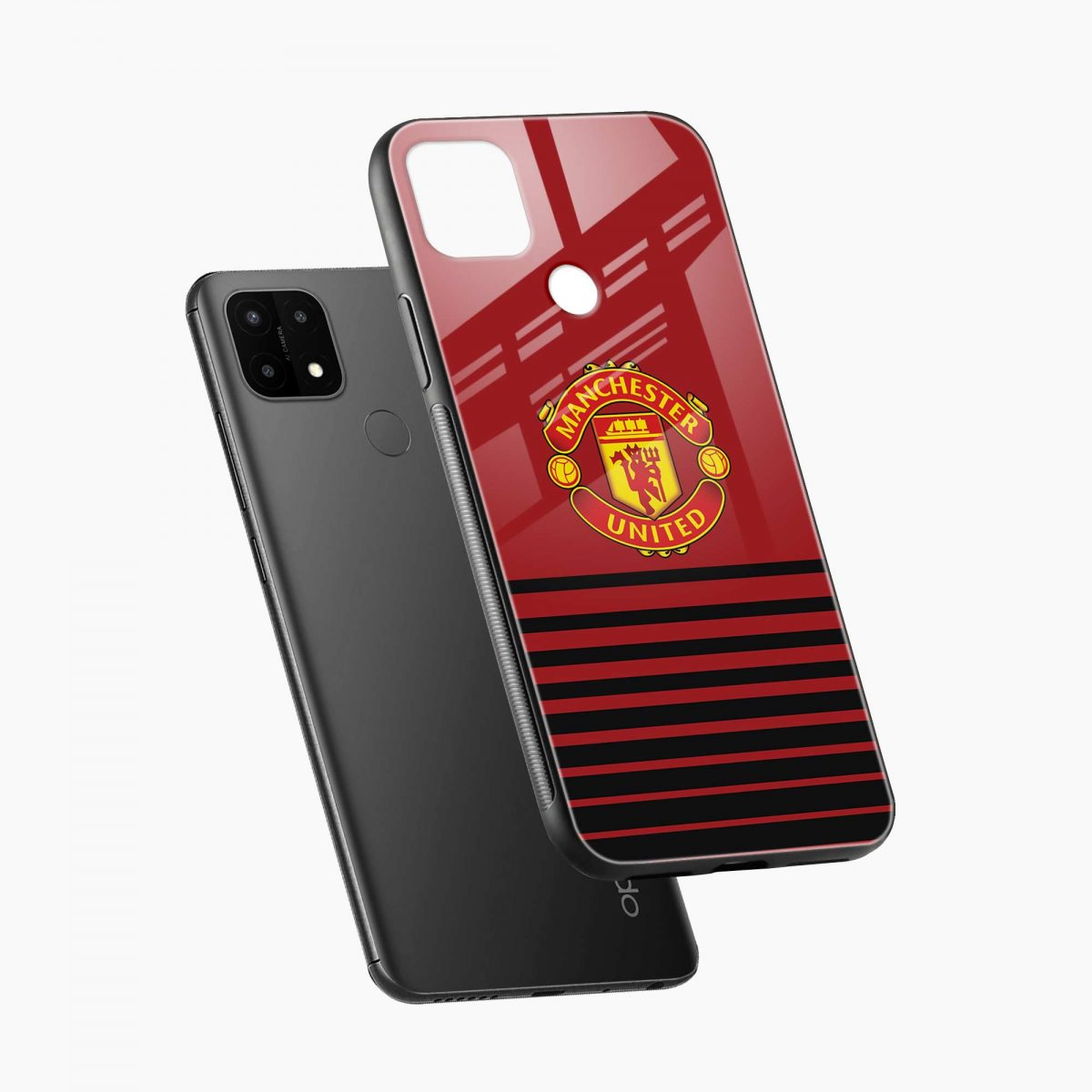 manchester united diagonal view oppo a15 back cover