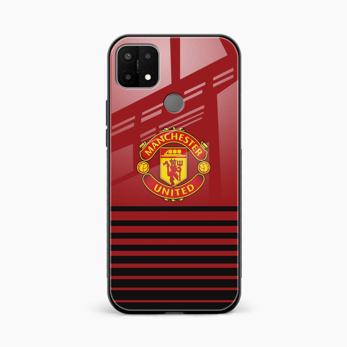 manchester united front view oppo a15 back cover
