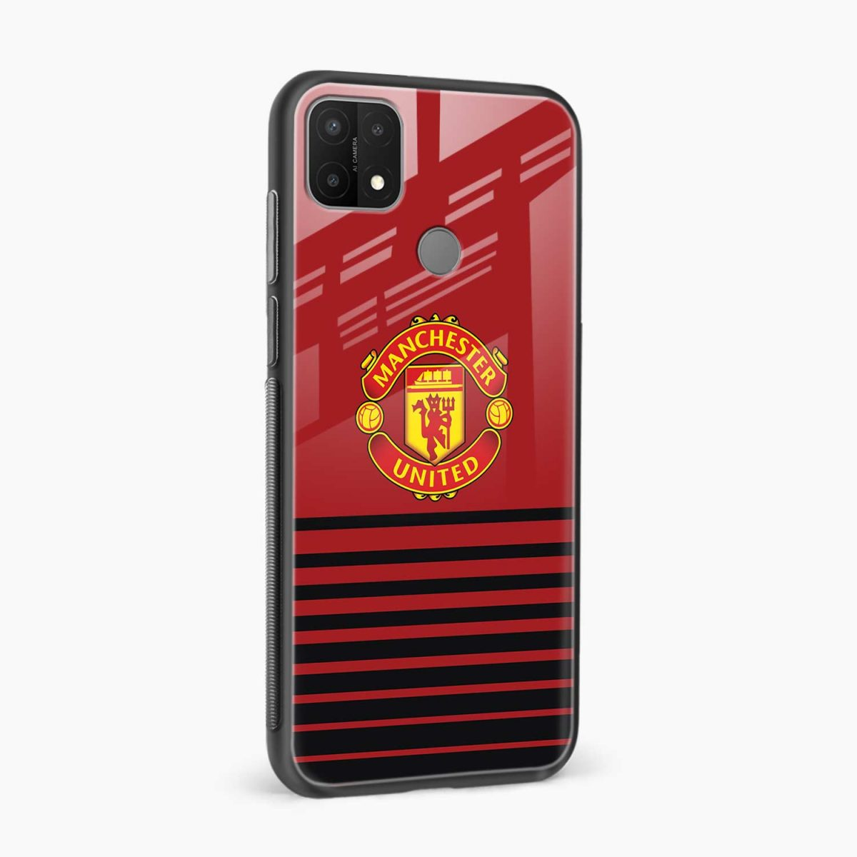 manchester united side view oppo a15 back cover