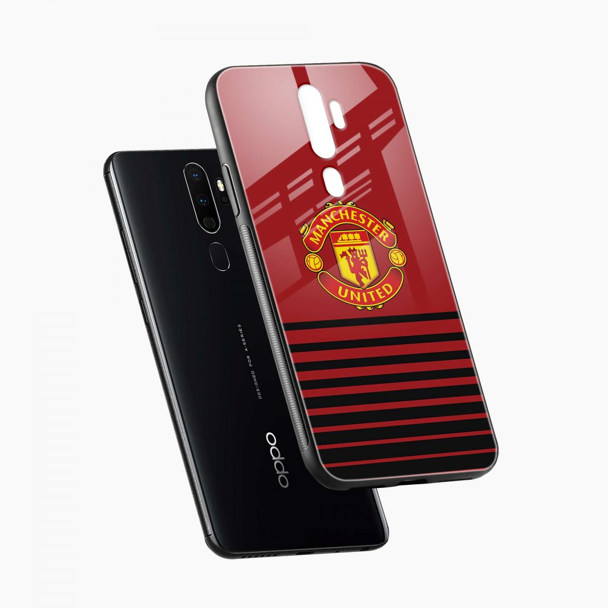 manchester united diagonal view oppo a5 back cover