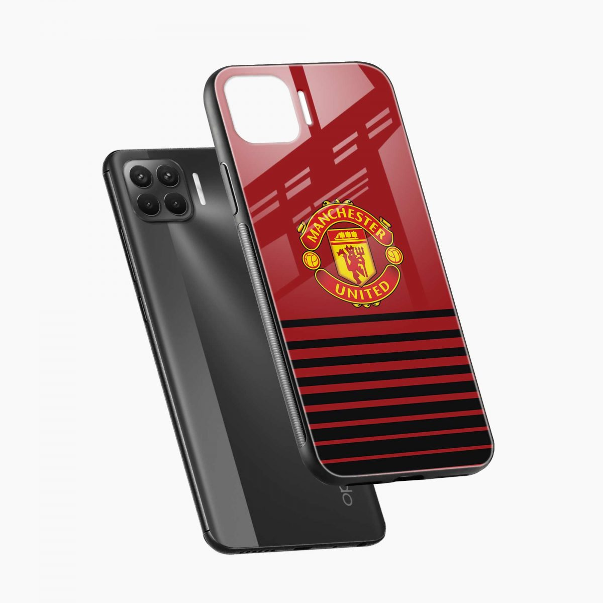 manchester united diagonal view oppo f17 pro back cove