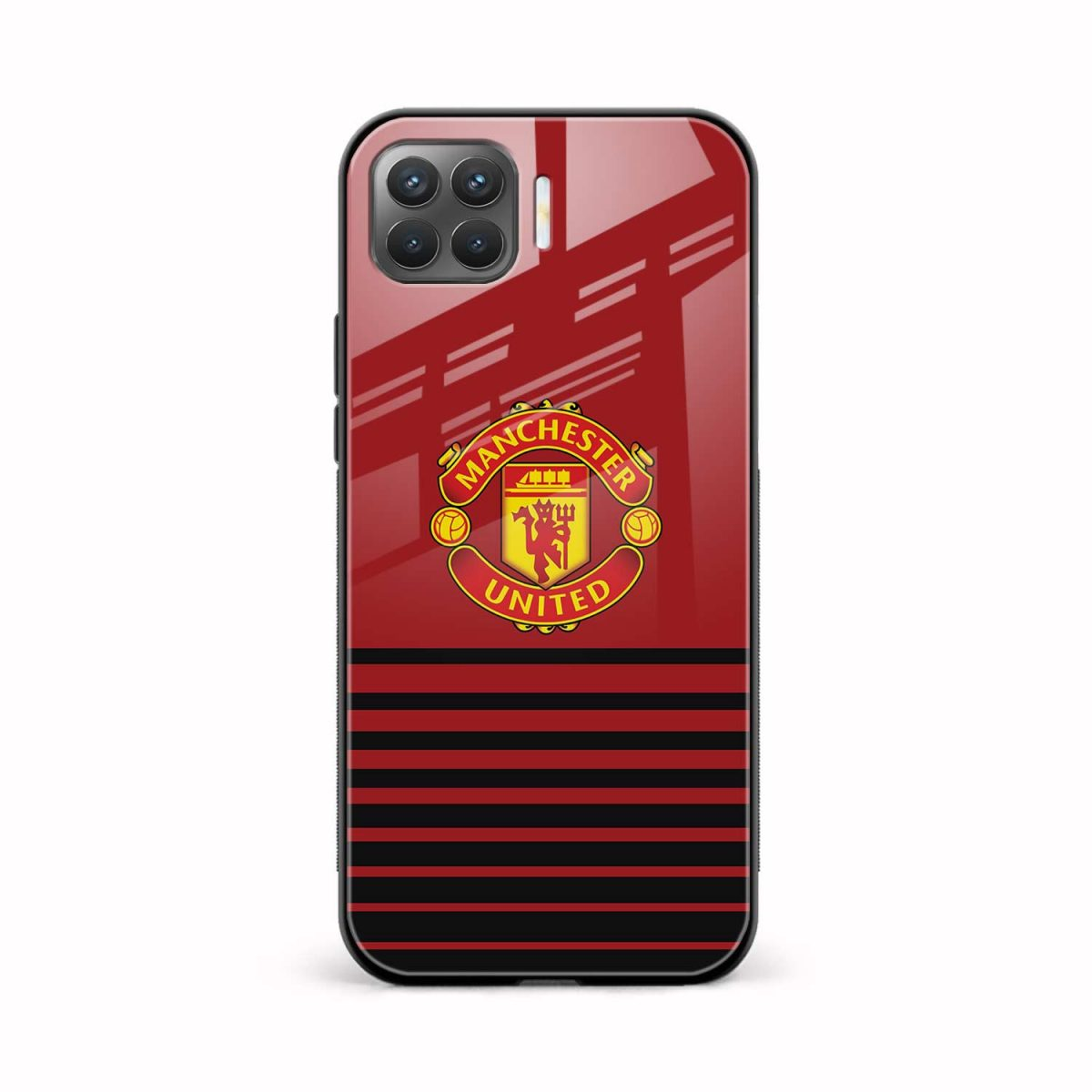 manchester united front view oppo f17 pro back cover