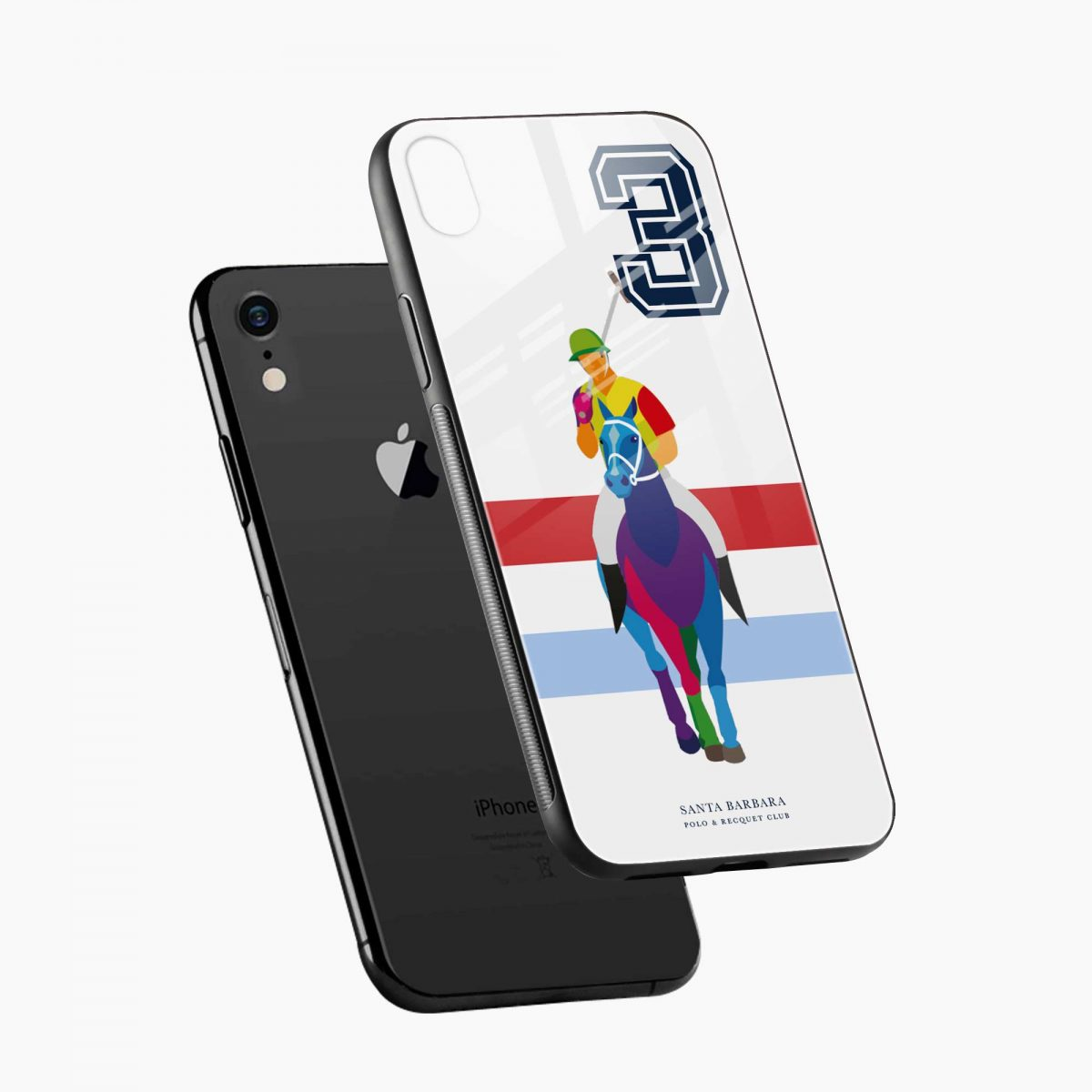 multicolor sant barbara polo apple iphone xr back cover diagonal view