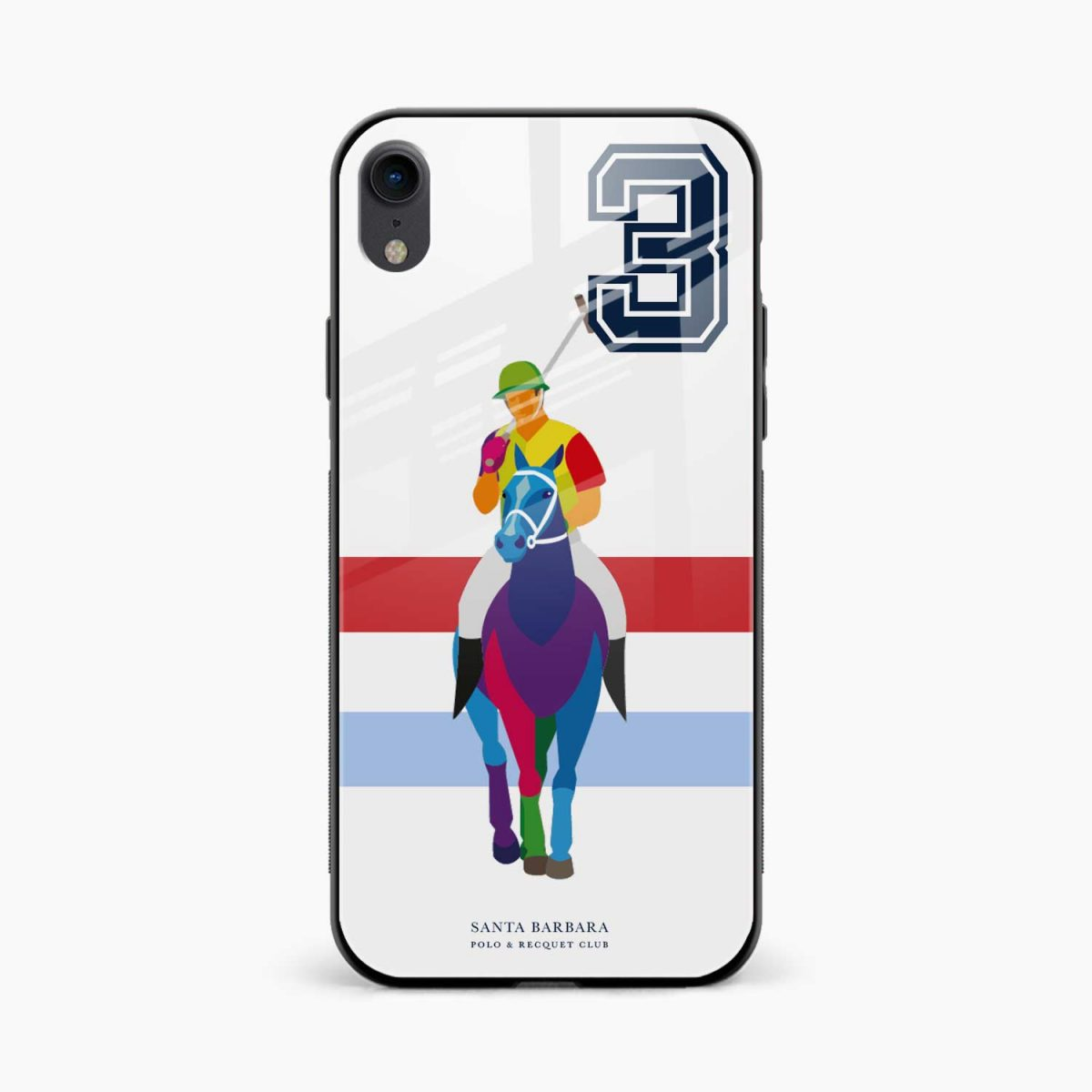multicolor sant barbara polo apple iphone xr back cover front view