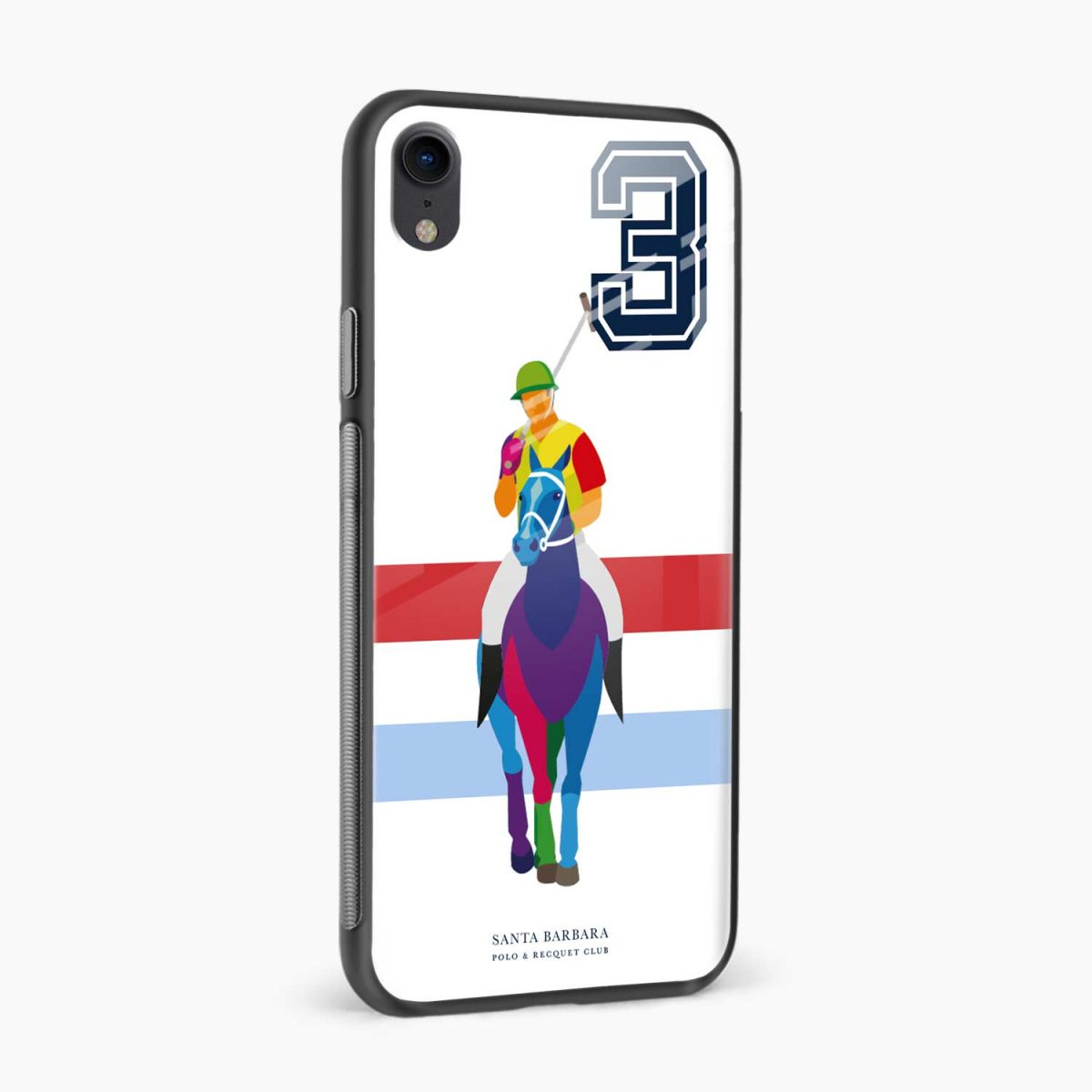 multicolor sant barbara polo apple iphone xr back cover side view