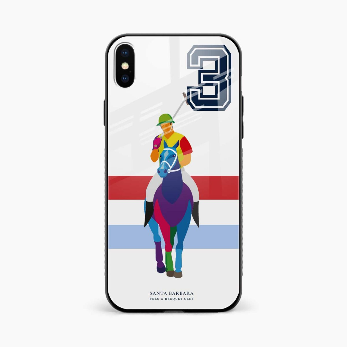 multicolor sant barbara polo front view apple iphone x xs max back cover